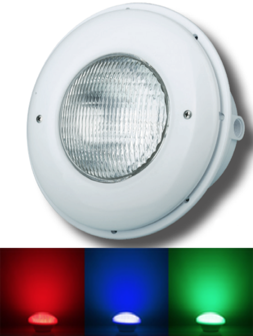 LED Color Lampe  Betonbecken