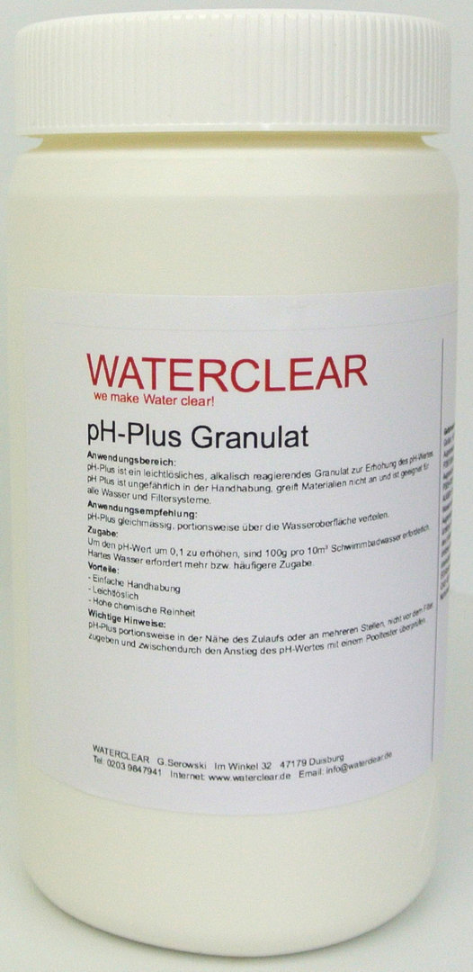 Waterclear pH-PLUS in 1kg Dose