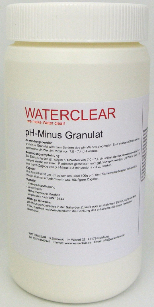 Waterclear pH-Minus in 1,5kg Dose